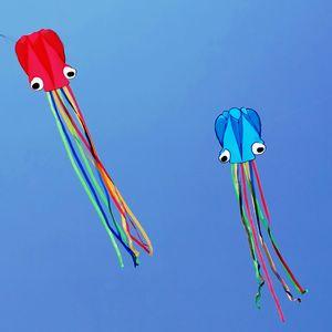 Octopus Kite Kite 3D 4 mètres Cartoon coloré squelette sans queue longue facile à voler plage cerfs-volants sport en plein air Jouer