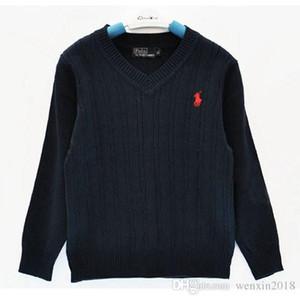 الاطفال أزياء العلامة التجارية سترة ملابس الأطفال عالية الجودة الربيع / الخريف مدرسة بنين وبنات للأطفال لعبة البولو قميص كنزة