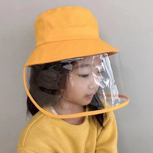 Child Windproof Breathable Hat Outdoor Bucket Hat Face Protective Dust Protection Cap For 3-9-Yeas- Old Children