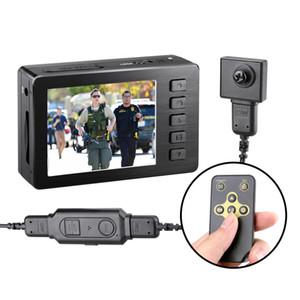 Real 1080P FHD cuerpo desgastado cámara oscura portátil Secreto Tornillo Video Recorder Policía de la cámara DVR