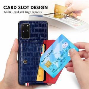 Redmi NOTE8 주 8 프로 8T 주 (9) 프로 맥스 Mate30 카드 슬롯 악어 가죽 지갑 TPU 케이스 돈 포켓 홀더 스탠드 전화 커버 1PCS의 경우
