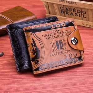 Retro Männer Geldbörsen Dollar Abbildung Muster Kredit Wallet Männer-Kupplung PU-Geldklammer Lange Male Geldbeutel für Münzen Multi Pocket DHL