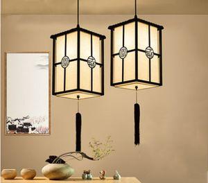 Новый китайский черный железный подвесные светильники простой ресторан гостиная клуб лампы японский подвесной светильник в клетке для птиц подвесной светильник