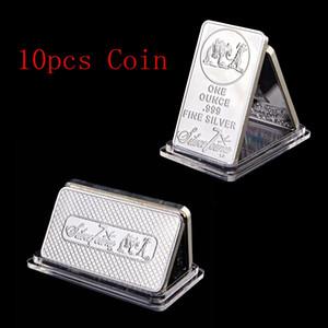 Ons Troy SilverTowne Külçe Gümüş Kaplama Pirinç Çekirdek Bar Gümüş Bar By Ücretsiz Kargo 10pcs / lot 1oz Bar Gümüş