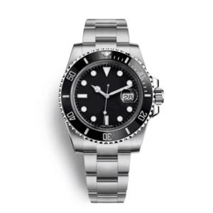 Homens de alta qualidade relógio de luxo 116610 homens assista teel luxo inoxidável relógio mecânico automático moda estilo simples esporte relógio de pulso 40m