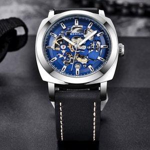 2020 BENYAR Mens Relógios Set Reloj Hombre Top Marca mecânico automático de couro impermeável Sport Watch Men Relogio Masculino