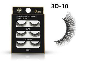 3D falsche Wimpern 16 Styles Handgefertigte Schönheit dick lange weiche Lashes-Fälschungs-Augen-Peitsche-Wimper Sexy 3Pairs / set DHL