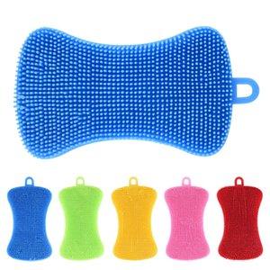 PE Bulaşık Fırçası Renkli Temizlik Bezleri Plastik Isı Yalıtımı Bulaşık Bowl Fırça Fonksiyonlu Yağ Lekeleri A03 kaldır