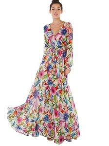 vestidos de las mujeres de la impresión floral vestido de diseñador vestido corto de la manga de Boho del partido de tarde del vestido maxi largo del vestido del verano Vestido de tirantes Ropa para las mujeres