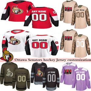 2019 Новости Оттава Хоккейный Трикотажные Несколько стилей Mens Пользовательские любое имя Любой номер хоккея