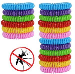 안티 모기 구충제 팔찌 실리콘 팔찌 여러 가지 빛깔의 해충 방제 팔찌 곤충 보호 캠핑 야외 해충 도구 GGA3482-4