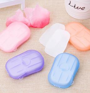 Portátil de viaje caja de papel desechables Jabón Lavar a mano perfumado jabón de papel Hojas de viajes perfumadas baño de lavado Manos Papel Jabón KKA7787