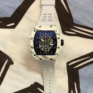 Moda Richard Mens Relógios Montre Homme silicone banda quartzo relógio de pulso Homem Moda Sports impermeáveis Luxo hombre Men Watch Reloj