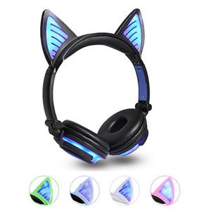 2020 Orejas Auriculares inalámbricos Ear nuevo gato LED parpadeante Bluetooth para auriculares que brilla Gaming Headset auriculares para adultos y niños