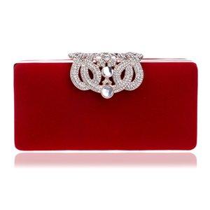 Diseñador-FJUN bolso de noche de las mujeres de lujo 2018 Diamante Perla bolso de embrague del partido del banquete del bolso del brillo para las mujeres cadena hombro