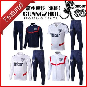 2019 2020 Sao paulo jacket hoodie Survetement 19 20 brazil training shirts suits football soccer jogging TRACKSUIT top polo sets