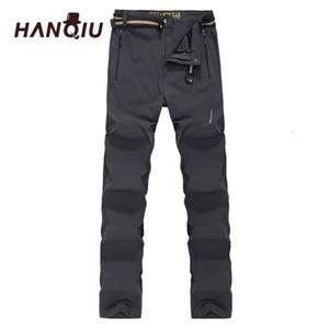 HANQIU Softshell Broek Men Fast -smoking Breathing Thermal Waterproof Broek Men Casual Outdoor