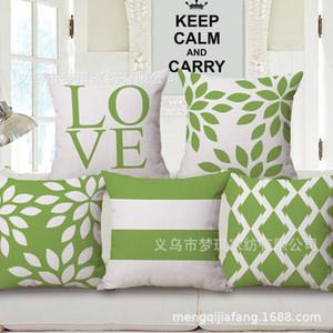 Meng Qi Home Textile Green Concise Embrace Pillow Case Moda Cuscino tra cuscino posteriore del divano
