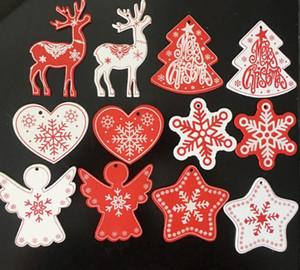 Natural Wood Ornamente Anhänger-hängendes Geschenke Weihnachtsbaum-Dekor Hochzeitsdekoration