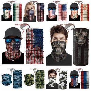 USA Flag magic headscarf bandana cycling masks Head Neck Scarves Windproof Sport Camouflag face mask with FiltereT2I51008