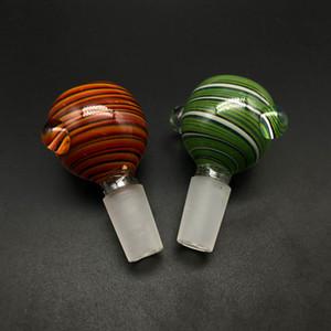 2019 14 mm 18 mm macho Eddy Glass Bowl con Amber Green Pyrex Glass Bong Bowl Pedazo para Heady Glass Dab Rig HookahTobacco Accesorios para fumar