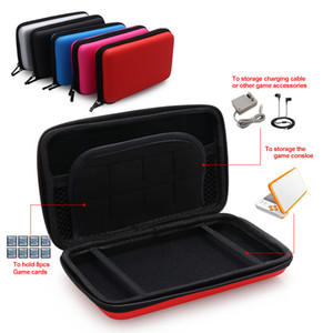 Buffered Shockproof Box EVA Game Card Storage Hard Shell Protective Bag Double Zip Handle Carry Case for Nintendo NEW 2DS XL LL
