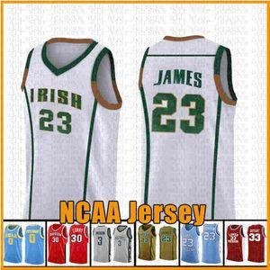YEŞİL 23 LeBron 13 James NCAA Harden Basketbol Jersey Arizona Üniversitesi Devlet Bethel İrlanda Lisesi 2 Leonard 3 Wade 11 Irving 30 Curry