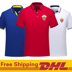 Gratuit DHL Livraison elche cf football Polo hommes shirt à manches courtes de formation de football T-polo shirt Jersey peuvent être mélangés lot Hommes Polos