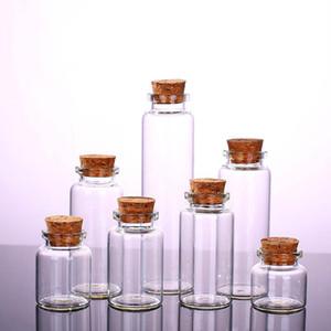 Bouteille en verre transparent avec verre Lièges Vial Jars Pendentif Artisanat Projets de bricolage pour Keepsakes Diamètre 30 mm