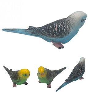 Cute Bird Figurine Simulation Mini Parrot Animal Model Home Decor Miniature Fairy Garden Decoration Accessories Modern Figure