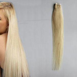 인간의 머리카락 연장에 100g 테이프 스트레이트 1b # 2 # 4 # 6 # 613 # 금발 머리에 확장 테이프 40pcs 헤어 확장에 레미 테이프