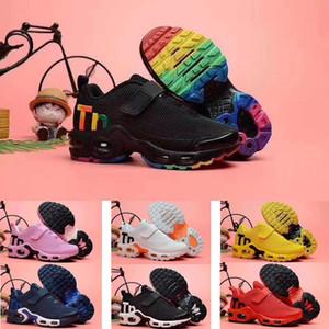 2020 aire TN Plus KPU botón mágico del amortiguador Trainer niños calzado para correr muchacho de la muchacha del deporte chico joven tamaño de la zapatilla de deporte 28-35