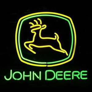Custommade JOHN DEERE Beer Iscriviti vera luce al neon di vetro delle lampadine del tubo fatto a mano Beer Bar Pub Shop Logo Conservare Club Garage Wall Decor