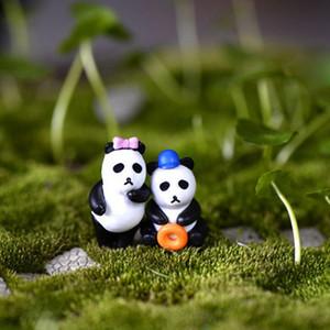 NOVO Hot Sale 8Pcs Hot Sale Resina Artesanato Miniature Garden Decor Resina Artesanato Resina Mini desenhos animados Panda estatueta