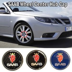 Cap Lamer Centro de 4pcs / Set 60mm SAAB rueda del coche de Hub Placa cubierta del coche que labra los accesorios para Monte 9-3 9-5 9-2X 900 9000 9-3X 9-4X 9-7X