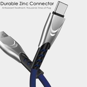 Yeni Çinko C Tipi USB Kablosu 3A Hızlı Android Telefonlar İçin Huawei Samsung Flat Naylon Mikro USB Kablosu Şarj Tel Cord için USB C Kordon Şarj