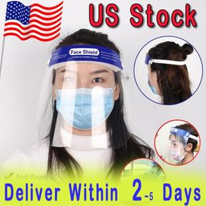 DHL rápido de la UPS! Caja de escudo facial transparente para toda la cara cubierta protectora de la película Herramienta anti-vaho prima PET material protector de la cara