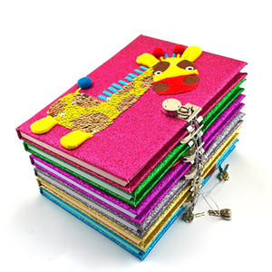 Mermaid Notepad Escola Diário Modcon Magia Lantejoula Jornal reversível Lantejoula Notebook Bloqueado para Meninas Adultos Festival de aniversário