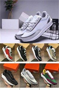Nuovo nylon Ldwaffle scarpe da corsa per donne degli uomini Verde Gusto Pine Verde Bianco Grigio Nero Sacai Racer LDV Waffle scarpe da ginnastica di sport