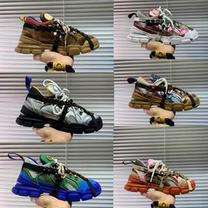 Chaussures d'homme des femmes des baskets de design de luxe de diamant baskets FlashTrek avec des chaussures en plein air Chaussures de montagne Escalade amovibles
