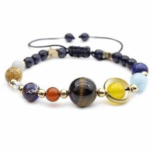 Natural Volcanic Stones Fashion accessories planet ball element combination bracelet bracelet