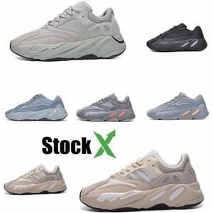 2020 Azael Alvah 700 V3 Mens Designer Shoes Kanye West incandescenza bianca In Dark modo di alta qualità del progettista donne degli uomini addestratori correnti Wit # DSK926