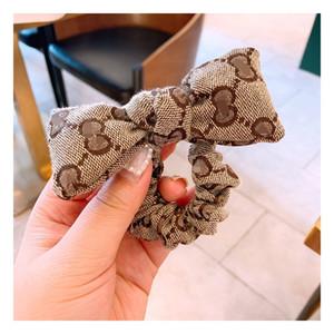 Diademas de lujo mujeres niñas hermosa marca mariposa perla Retro impreso moda accesorios para el cabello
