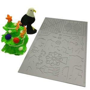 رسم 170x110x2mm الأطفال أدوات Dikale 3D الطباعة القلم سيليكون تصميم حصيرة قالب رسم سيليكون الوسادة الشكل الهندسي ل