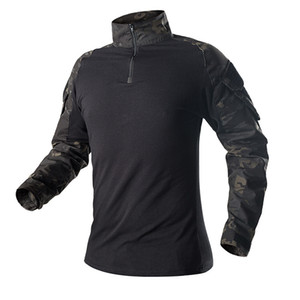 New Hot Shirt Camouflage Army Tactical Battle Combat Shirt Men Women USMC Softair Camisa Special Forces Costume