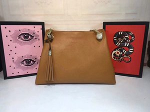 Luxury Handbags Big size leather material Metal Tassel Designer Handbags high quality Famous Brands bag Genuine leather Shoulder Bags