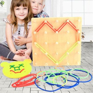 Wooden Children Threading Rope Toy Letter Shape Digital Variety Modeling Early Educational Toy