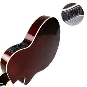 Acoustic Guitar Musical Instruments 40 polegadas Electric Box Madeira Guitarra 6 Cordas da guitarra Red Light Cutaway Electro AGT28