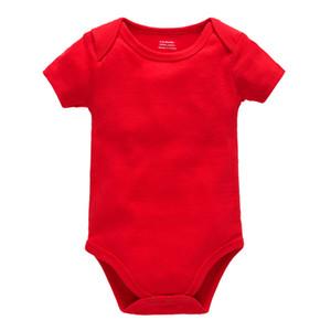 OEM ODM boş bebek yenidoğan bodysuit romper% 100 pamuk düz bebeklerin giysileri bebek erkek kız kısa kollu onesies de bebes giyim