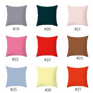 베개 홈 45 * 45CM 홈 소파 베개 순수한 색 폴리 에스테르 화이트 베개 커버 쿠션 커버 장식 베개 케이스 빈 EEAA468를 던져